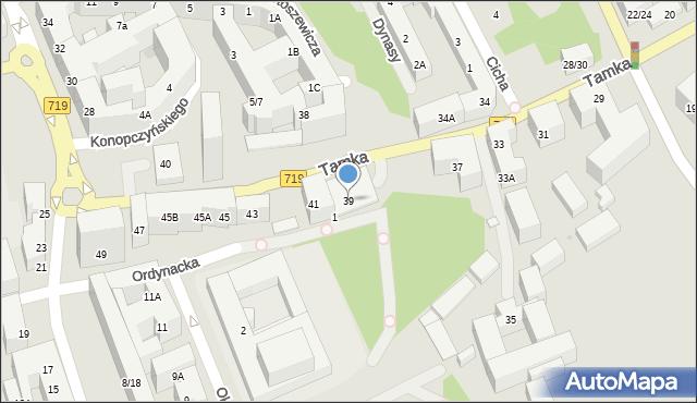 Warszawa, Tamka, 39, mapa Warszawy