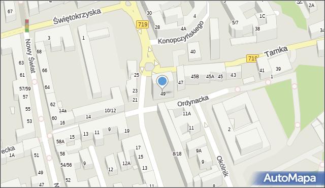 Warszawa, Tamka, 49, mapa Warszawy