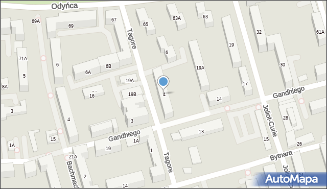Warszawa, Tagore Rabindranatha, 4, mapa Warszawy