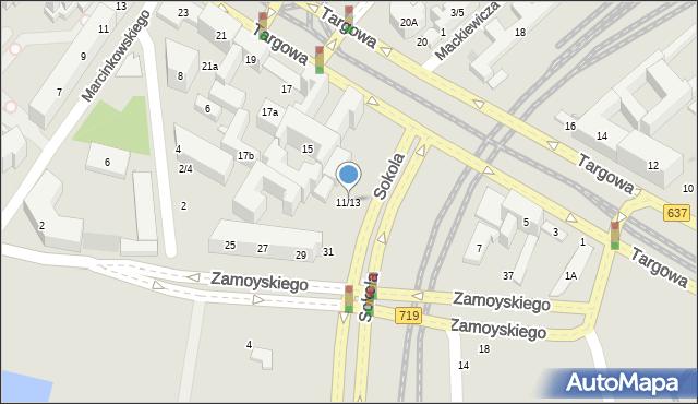 Warszawa, Targowa, 11/13, mapa Warszawy