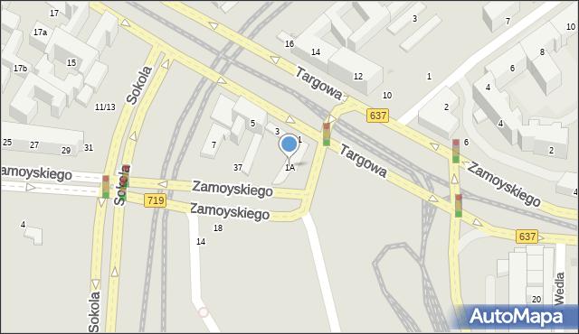 Warszawa, Targowa, 1A, mapa Warszawy