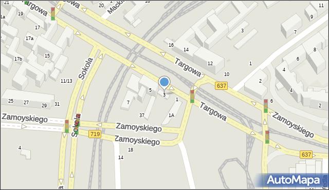 Warszawa, Targowa, 3a, mapa Warszawy