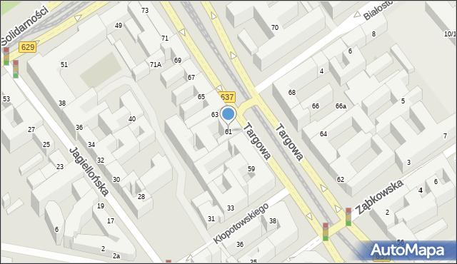 Warszawa, Targowa, 61, mapa Warszawy