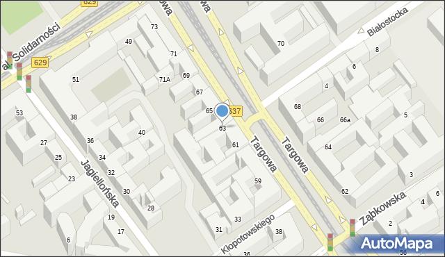 Warszawa, Targowa, 63, mapa Warszawy
