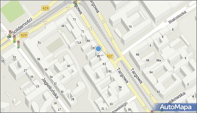 Warszawa, Targowa, 65, mapa Warszawy