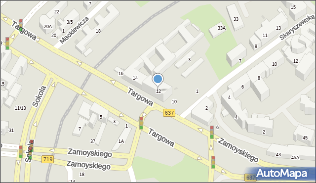 Warszawa, Targowa, 12, mapa Warszawy