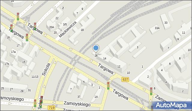 Warszawa, Targowa, 16, mapa Warszawy