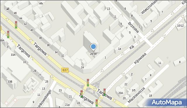 Warszawa, Targowa, 26/30, mapa Warszawy