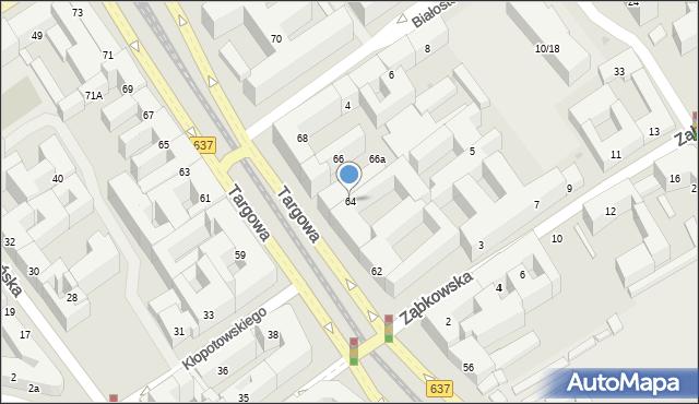 Warszawa, Targowa, 64, mapa Warszawy