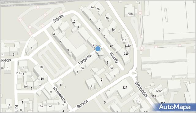 Zabrze, Targowa, 2, mapa Zabrza
