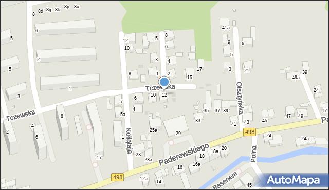 Grudziądz, Tczewska, 12, mapa Grudziądza