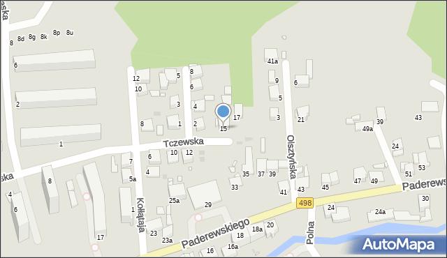 Grudziądz, Tczewska, 15, mapa Grudziądza