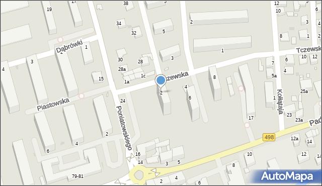 Grudziądz, Tczewska, 2, mapa Grudziądza