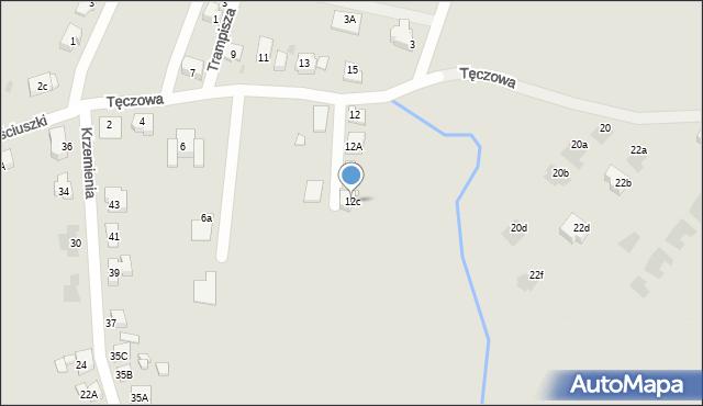 Bytom, Tęczowa, 12c, mapa Bytomia