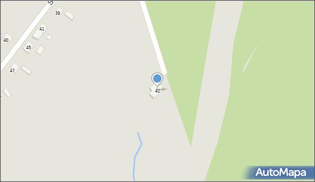 Bytom, Tęczowa, 42, mapa Bytomia