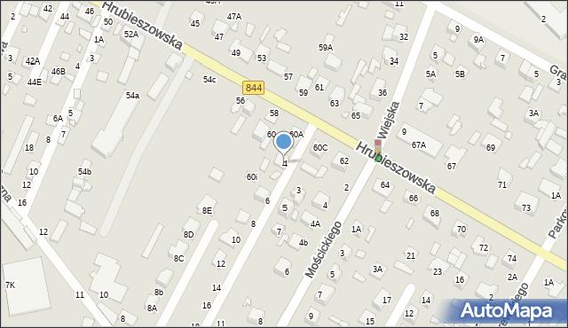 Chełm, Tęczowa, 4, mapa Chełma
