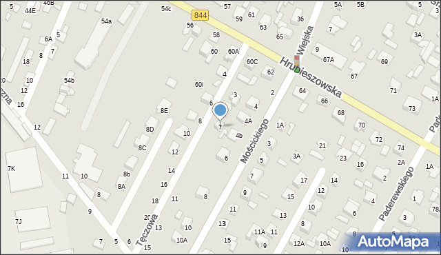 Chełm, Tęczowa, 7, mapa Chełma