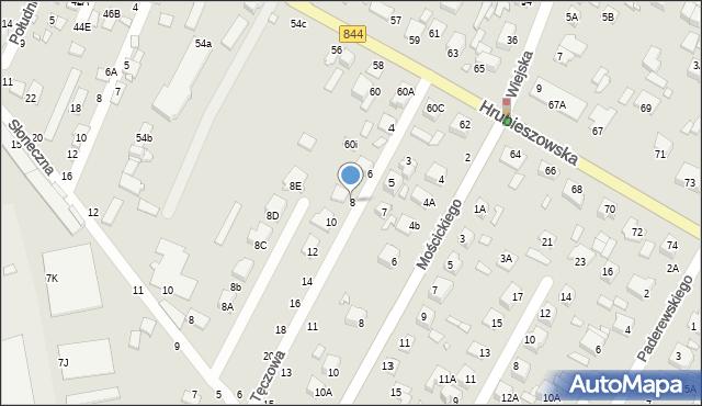 Chełm, Tęczowa, 8, mapa Chełma