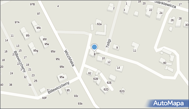 Gdynia, Teligi Leonida, kpt., 8, mapa Gdyni
