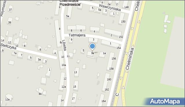 Grudziądz, Tetmajera, 3a, mapa Grudziądza