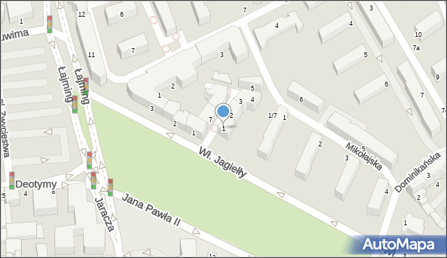 Słupsk, Teatralna, 1, mapa Słupska