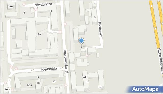 Warszawa, Teresińska, 9, mapa Warszawy
