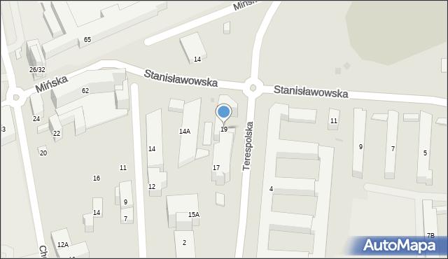 Warszawa, Terespolska, 19, mapa Warszawy