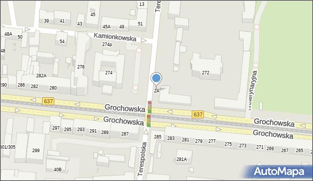 Warszawa, Terespolska, 2A, mapa Warszawy