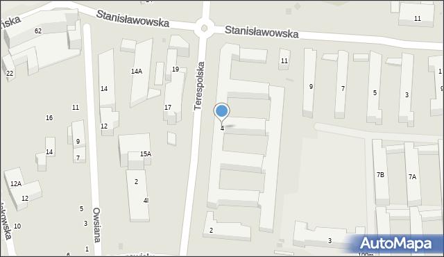 Warszawa, Terespolska, 4, mapa Warszawy