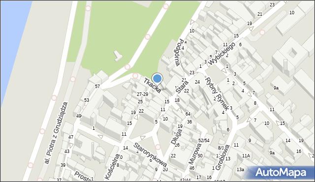 Grudziądz, Tkacka, 3, mapa Grudziądza