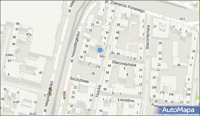 Szczecin, Tkacka, 11, mapa Szczecina