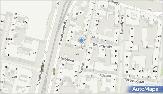 Szczecin, Tkacka, 13, mapa Szczecina