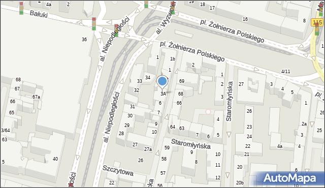 Szczecin, Tkacka, 3A, mapa Szczecina