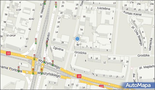 Szczecin, Tkacka, 50, mapa Szczecina