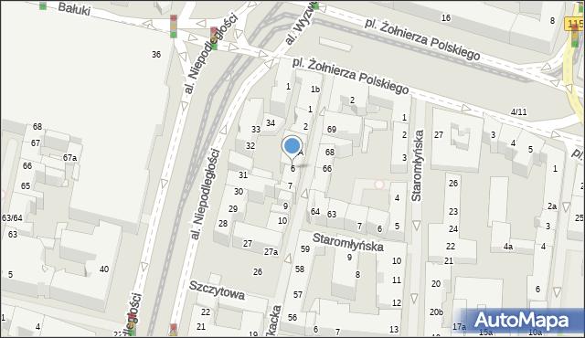 Szczecin, Tkacka, 6, mapa Szczecina