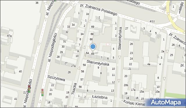 Szczecin, Tkacka, 63, mapa Szczecina