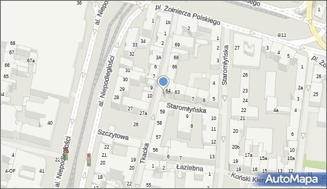 Szczecin, Tkacka, 65a, mapa Szczecina