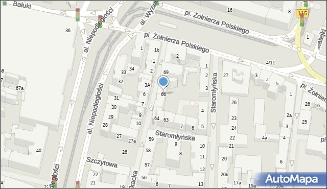 Szczecin, Tkacka, 66, mapa Szczecina
