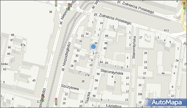 Szczecin, Tkacka, 7, mapa Szczecina