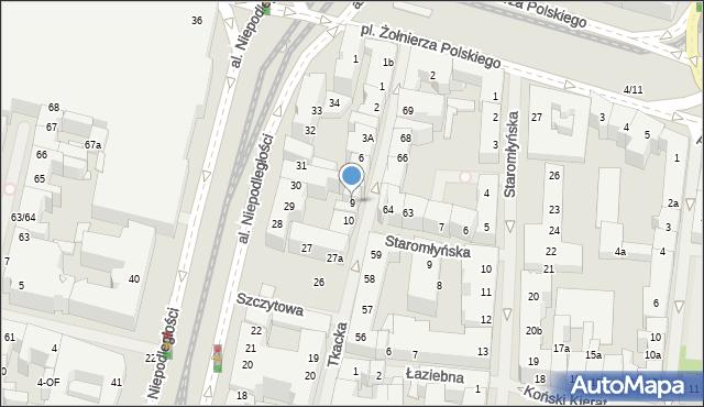 Szczecin, Tkacka, 9, mapa Szczecina