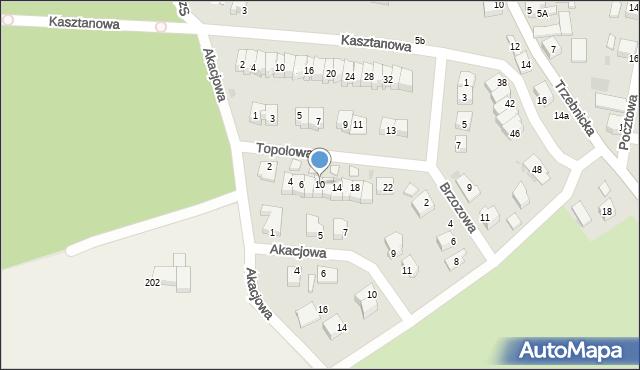 Chocianów, Topolowa, 10, mapa Chocianów