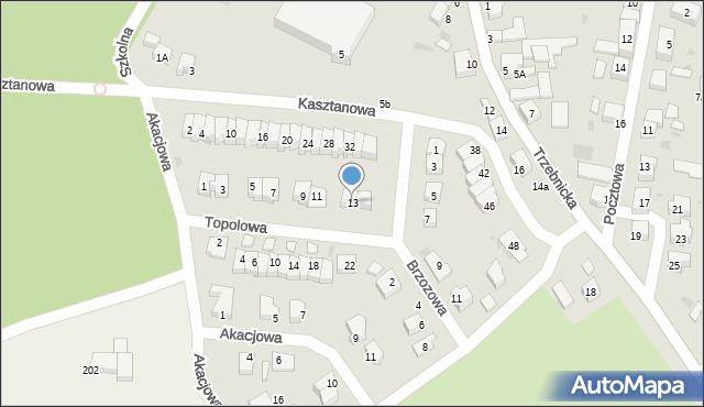 Chocianów, Topolowa, 13, mapa Chocianów