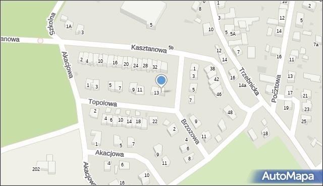Chocianów, Topolowa, 15, mapa Chocianów