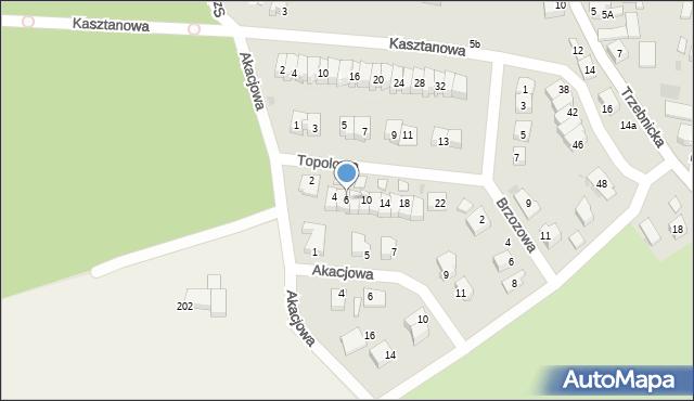 Chocianów, Topolowa, 6, mapa Chocianów