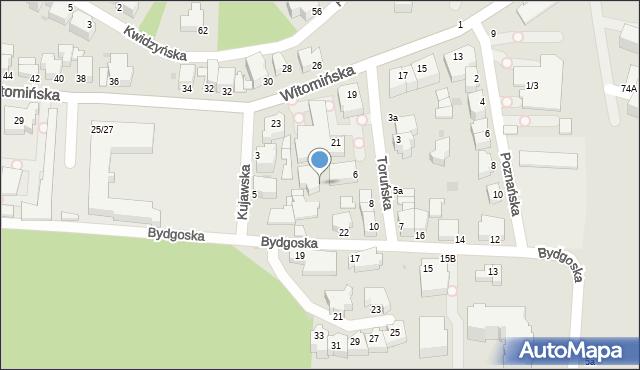 Gdynia, Toruńska, 6b, mapa Gdyni
