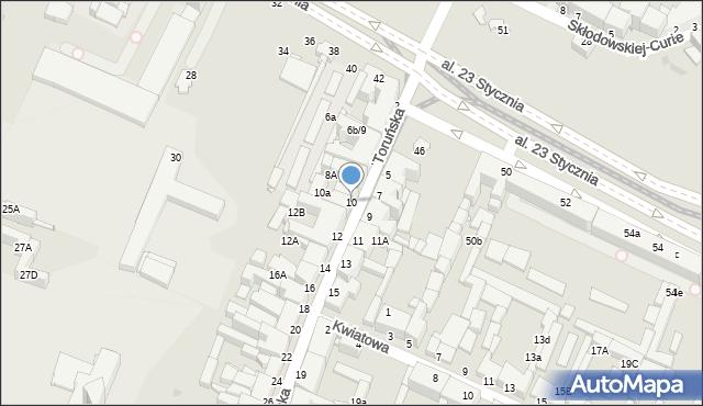 Grudziądz, Toruńska, 10, mapa Grudziądza