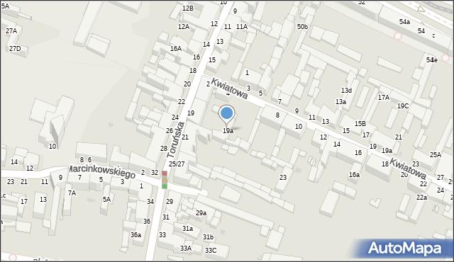 Grudziądz, Toruńska, 19a, mapa Grudziądza