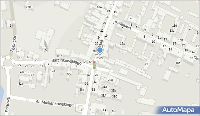 Grudziądz, Toruńska, 25/27, mapa Grudziądza