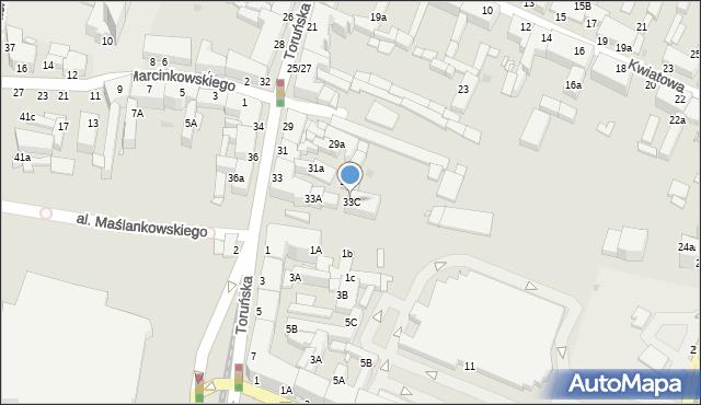 Grudziądz, Toruńska, 33C, mapa Grudziądza