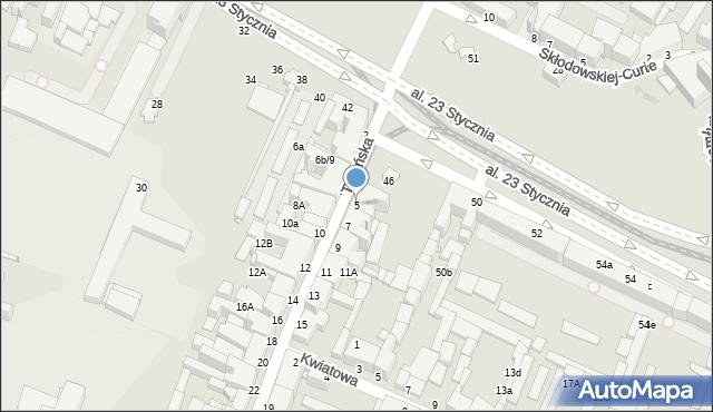 Grudziądz, Toruńska, 5, mapa Grudziądza